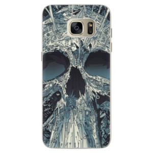 Silikonové pouzdro iSaprio (mléčně zakalené) Abstract Skull na mobil Samsung Galaxy S7 Edge