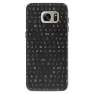 Silikonové pouzdro iSaprio (mléčně zakalené) Ampersand 01 na mobil Samsung Galaxy S7 Edge