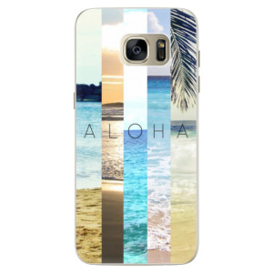 Silikonové pouzdro iSaprio (mléčně zakalené) Aloha 02 na mobil Samsung Galaxy S7 Edge