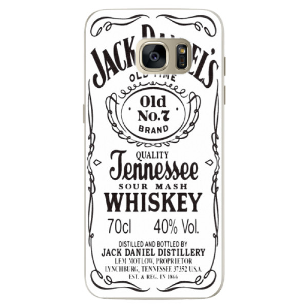 Silikonové pouzdro iSaprio (mléčně zakalené) Jack White na mobil Samsung Galaxy S7 Edge (Silikonový kryt, obal, pouzdro iSaprio (podkladové pouzdro není čiré, ale lehce mléčně zakalené) Jack White na mobilní telefon Samsung Galaxy S7 Edge)