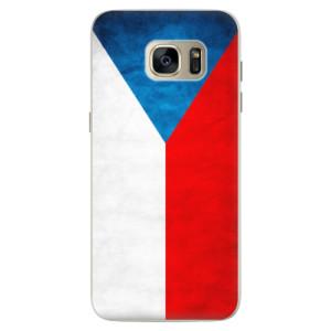 Silikonové pouzdro iSaprio (mléčně zakalené) Česká Vlajka na mobil Samsung Galaxy S7 Edge