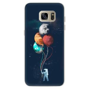 Silikonové pouzdro iSaprio (mléčně zakalené) Balónky 02 na mobil Samsung Galaxy S7 Edge