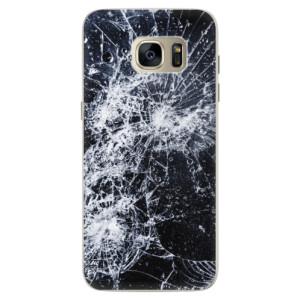 Silikonové pouzdro iSaprio (mléčně zakalené) Praskliny na mobil Samsung Galaxy S7 Edge