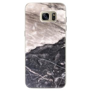 Silikonové pouzdro iSaprio (mléčně zakalené) BW Mramor na mobil Samsung Galaxy S7 Edge