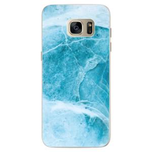 Silikonové pouzdro iSaprio (mléčně zakalené) Blue Marble na mobil Samsung Galaxy S7 Edge