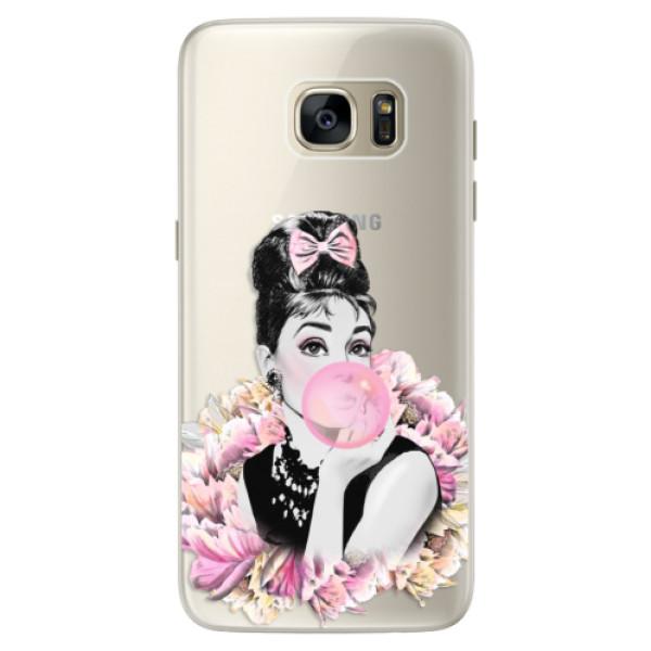 Silikonové pouzdro iSaprio (mléčně zakalené) Růžová Bublina na mobil Samsung Galaxy S7 Edge (Silikonový kryt, obal, pouzdro iSaprio (podkladové pouzdro není čiré, ale lehce mléčně zakalené) Růžová Bublina na mobilní telefon Samsung Galaxy S7 Edge)