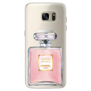 Silikonové pouzdro iSaprio (mléčně zakalené) Chanel Rose na mobil Samsung Galaxy S7 Edge