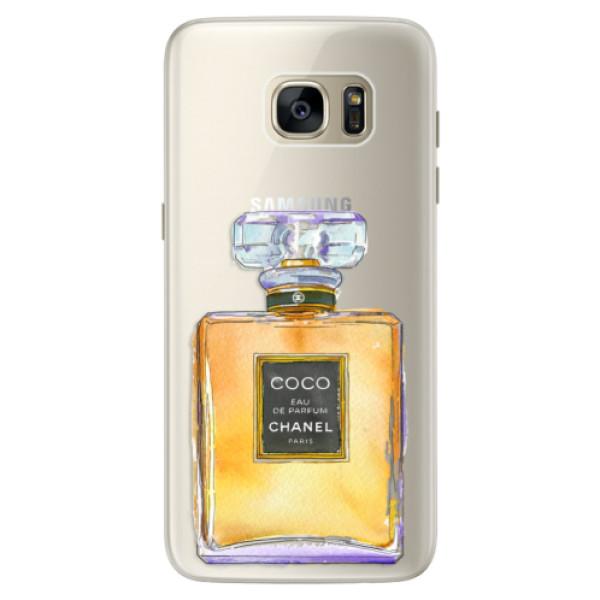 Silikonové pouzdro iSaprio (mléčně zakalené) Chanel Gold na mobil Samsung Galaxy S7 Edge (Silikonový kryt, obal, pouzdro iSaprio (podkladové pouzdro není čiré, ale lehce mléčně zakalené) Chanel Gold na mobilní telefon Samsung Galaxy S7 Edge)