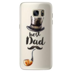 Silikonové pouzdro iSaprio (mléčně zakalené) Best Dad na mobil Samsung Galaxy S7 Edge