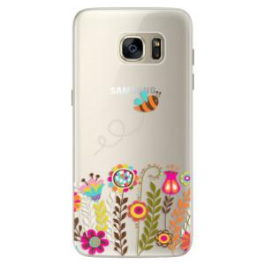 Silikonové pouzdro iSaprio (mléčně zakalené) Včelka Pája 01 na mobil Samsung Galaxy S7 Edge