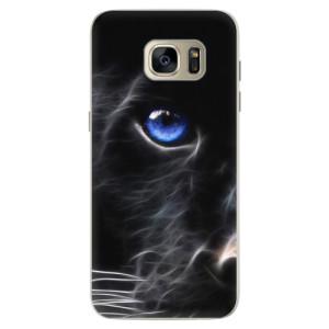 Silikonové pouzdro iSaprio (mléčně zakalené) Black Puma na mobil Samsung Galaxy S7 Edge