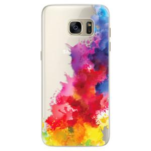 Silikonové pouzdro iSaprio (mléčně zakalené) Color Splash 01 na mobil Samsung Galaxy S7 Edge
