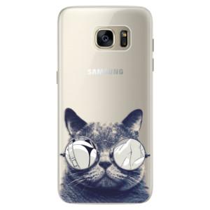 Silikonové pouzdro iSaprio (mléčně zakalené) Šílená Číča 01 na mobil Samsung Galaxy S7 Edge