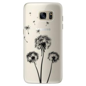 Silikonové pouzdro iSaprio (mléčně zakalené) Tři Černé Pampelišky na mobil Samsung Galaxy S7 Edge