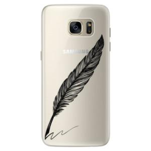 Silikonové pouzdro iSaprio (mléčně zakalené) Psáno Perem černé na mobil Samsung Galaxy S7 Edge