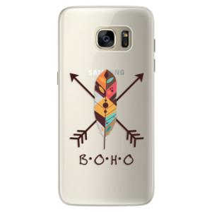 Silikonové pouzdro iSaprio (mléčně zakalené) BOHO na mobil Samsung Galaxy S7 Edge