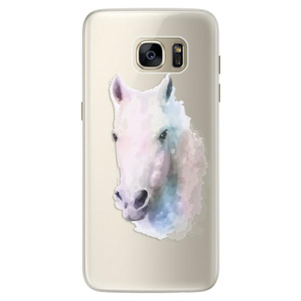 Silikonové pouzdro iSaprio (mléčně zakalené) Bílý kůň 01 na mobil Samsung Galaxy S7 Edge (Silikonový kryt, obal, pouzdro iSaprio (podkladové pouzdro není čiré, ale lehce mléčně zakalené) Bílý kůň 01 na mobilní telefon Samsung Galaxy S7 Edge)