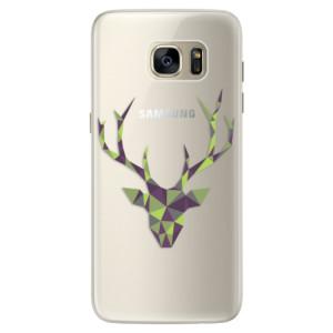 Silikonové pouzdro iSaprio (mléčně zakalené) Zelený Jelínek na mobil Samsung Galaxy S7 Edge