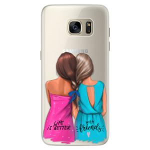 Silikonové pouzdro iSaprio (mléčně zakalené) Best Friends na mobil Samsung Galaxy S7 Edge