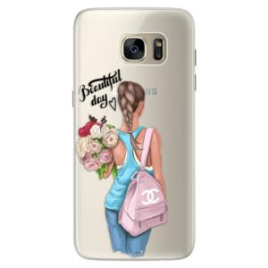 Silikonové pouzdro iSaprio (mléčně zakalené) Beautiful Day na mobil Samsung Galaxy S7 Edge