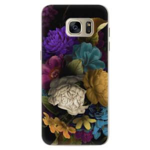 Silikonové pouzdro iSaprio (mléčně zakalené) Temné Květy na mobil Samsung Galaxy S7 Edge