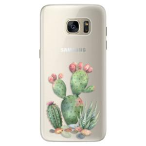 Silikonové pouzdro iSaprio (mléčně zakalené) Kaktusy 01 na mobil Samsung Galaxy S7 Edge