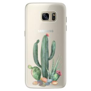 Silikonové pouzdro iSaprio (mléčně zakalené) Kaktusy 02 na mobil Samsung Galaxy S7 Edge