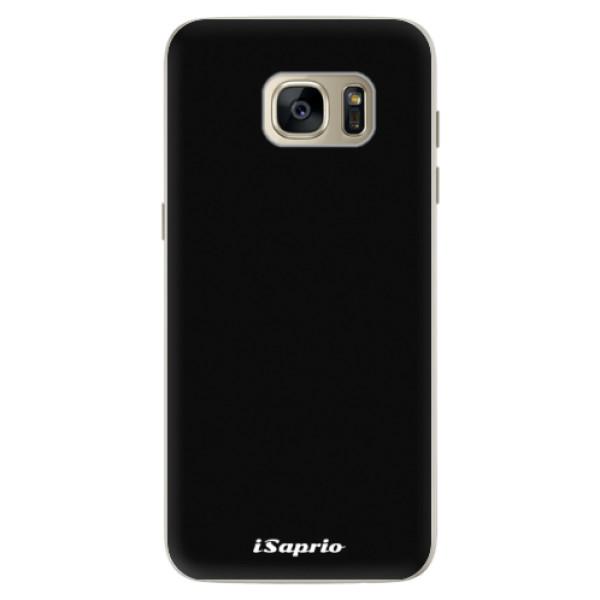 Silikonové pouzdro iSaprio 4Pure černé na mobil Samsung Galaxy S7 Edge (Silikonový kryt, obal, pouzdro iSaprio 4Pure černé na mobilní telefon Samsung Galaxy S7 Edge)