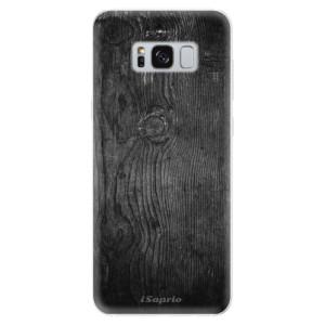 Silikonové pouzdro iSaprio (mléčně zakalené) Black Wood 13 na mobil Samsung Galaxy S8