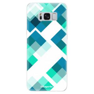 Silikonové pouzdro iSaprio (mléčně zakalené) Abstract Squares 11 na mobil Samsung Galaxy S8