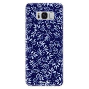 Silikonové pouzdro iSaprio (mléčně zakalené) Blue Leaves 05 na mobil Samsung Galaxy S8