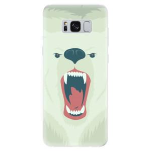 Silikonové pouzdro iSaprio (mléčně zakalené) Naštvanej Medvěd na mobil Samsung Galaxy S8
