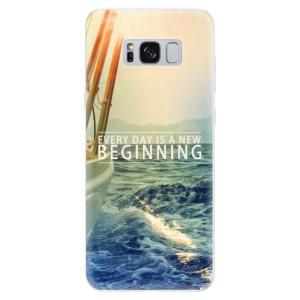 Silikonové pouzdro iSaprio (mléčně zakalené) Beginning na mobil Samsung Galaxy S8