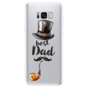 Silikonové pouzdro iSaprio (mléčně zakalené) Best Dad na mobil Samsung Galaxy S8