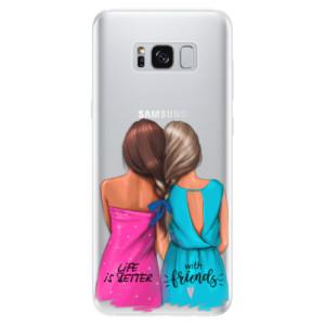 Silikonové pouzdro iSaprio (mléčně zakalené) Best Friends na mobil Samsung Galaxy S8