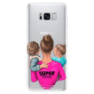 Silikonové pouzdro iSaprio (mléčně zakalené) Super Máma Boy and Girl na mobil Samsung Galaxy S8
