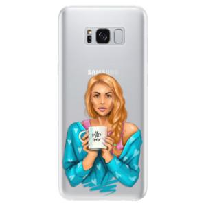 Silikonové pouzdro iSaprio (mléčně zakalené) Coffee Now Zrzka na mobil Samsung Galaxy S8