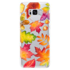 Silikonové pouzdro iSaprio (mléčně zakalené) Podzimní Lístečky na mobil Samsung Galaxy S8