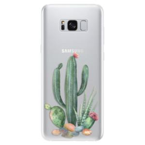 Silikonové pouzdro iSaprio (mléčně zakalené) Kaktusy 02 na mobil Samsung Galaxy S8