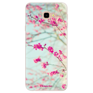 Silikonové pouzdro iSaprio (mléčně zakalené) Blossom 01 na mobil Samsung Galaxy J4 Plus