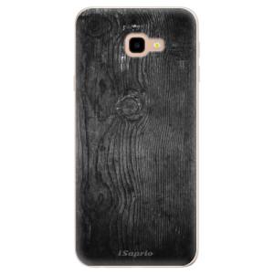 Silikonové pouzdro iSaprio (mléčně zakalené) Black Wood 13 na mobil Samsung Galaxy J4 Plus