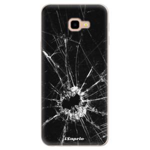 Silikonové pouzdro iSaprio (mléčně zakalené) Broken Glass 10 na mobil Samsung Galaxy J4 Plus