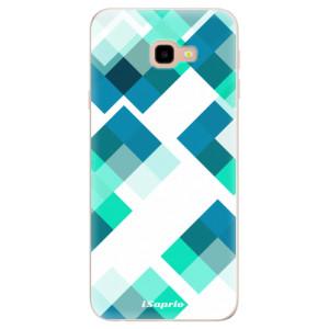 Silikonové pouzdro iSaprio (mléčně zakalené) Abstract Squares 11 na mobil Samsung Galaxy J4 Plus