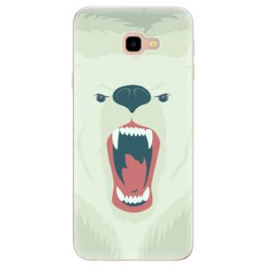Silikonové pouzdro iSaprio (mléčně zakalené) Naštvanej Medvěd na mobil Samsung Galaxy J4 Plus