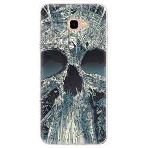 Silikonové pouzdro iSaprio (mléčně zakalené) Abstract Skull na mobil Samsung Galaxy J4 Plus