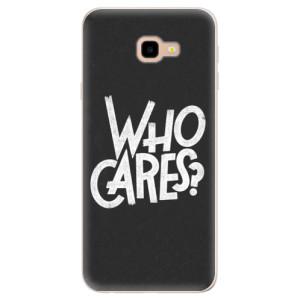 Silikonové pouzdro iSaprio (mléčně zakalené) Who Cares na mobil Samsung Galaxy J4 Plus