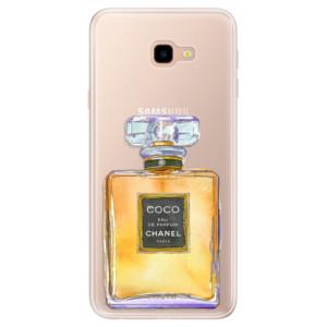 Silikonové pouzdro iSaprio (mléčně zakalené) Chanel Gold na mobil Samsung Galaxy J4 Plus