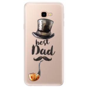 Silikonové pouzdro iSaprio (mléčně zakalené) Best Dad na mobil Samsung Galaxy J4 Plus