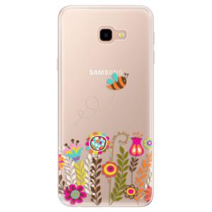 Silikonové pouzdro iSaprio (mléčně zakalené) Včelka Pája 01 na mobil Samsung Galaxy J4 Plus