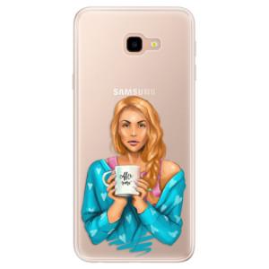 Silikonové pouzdro iSaprio (mléčně zakalené) Coffee Now Zrzka na mobil Samsung Galaxy J4 Plus